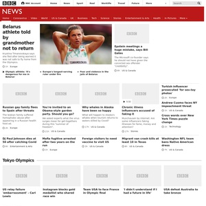 BBC News website thumbnail