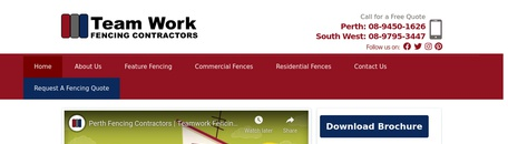 Team Work Fencing Contractors Perth